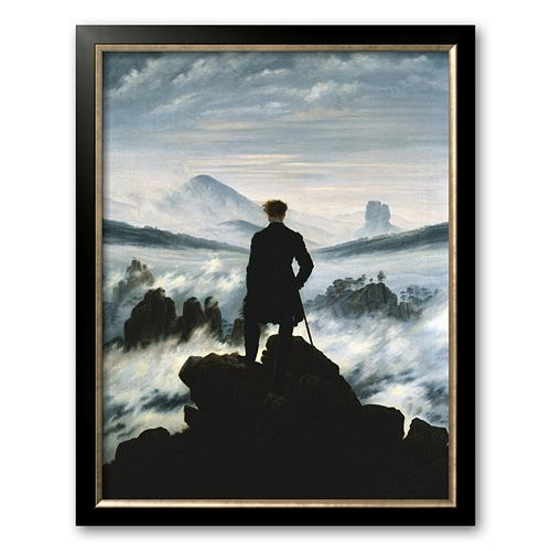 "Art.com ""The Wanderer Above the Sea of Fog, c.1818"" Framed Art Print by Caspar David Friedrich"