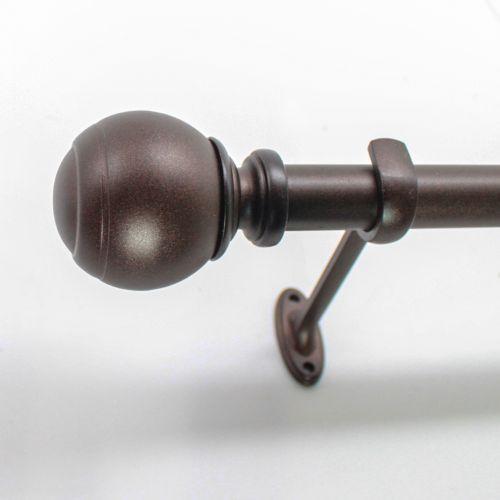 Decopolitan Ball Adjustable Curtain Rod - 18'' - 36''