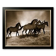 Art.com 'Wild Horses' Framed Art Print by Lisa Dearing