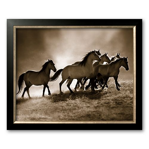 "Art.com ""Wild Horses"" Framed Art Print by Lisa Dearing"