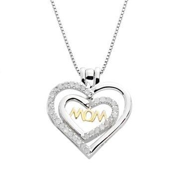 18k Gold Over Silver & Sterling Silver 1/2-ct. T.W. Diamond Interchangeable