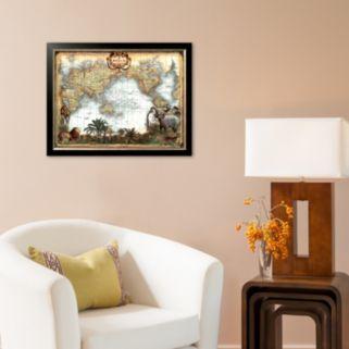 Art.com World Map Framed Art Print