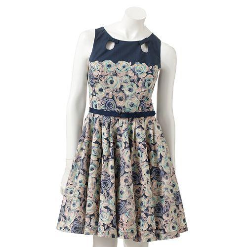 LC Lauren Conrad Floral Fit & Flare Dress