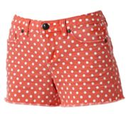 LC Lauren Conrad Polka-Dot Distressed Denim Shorts