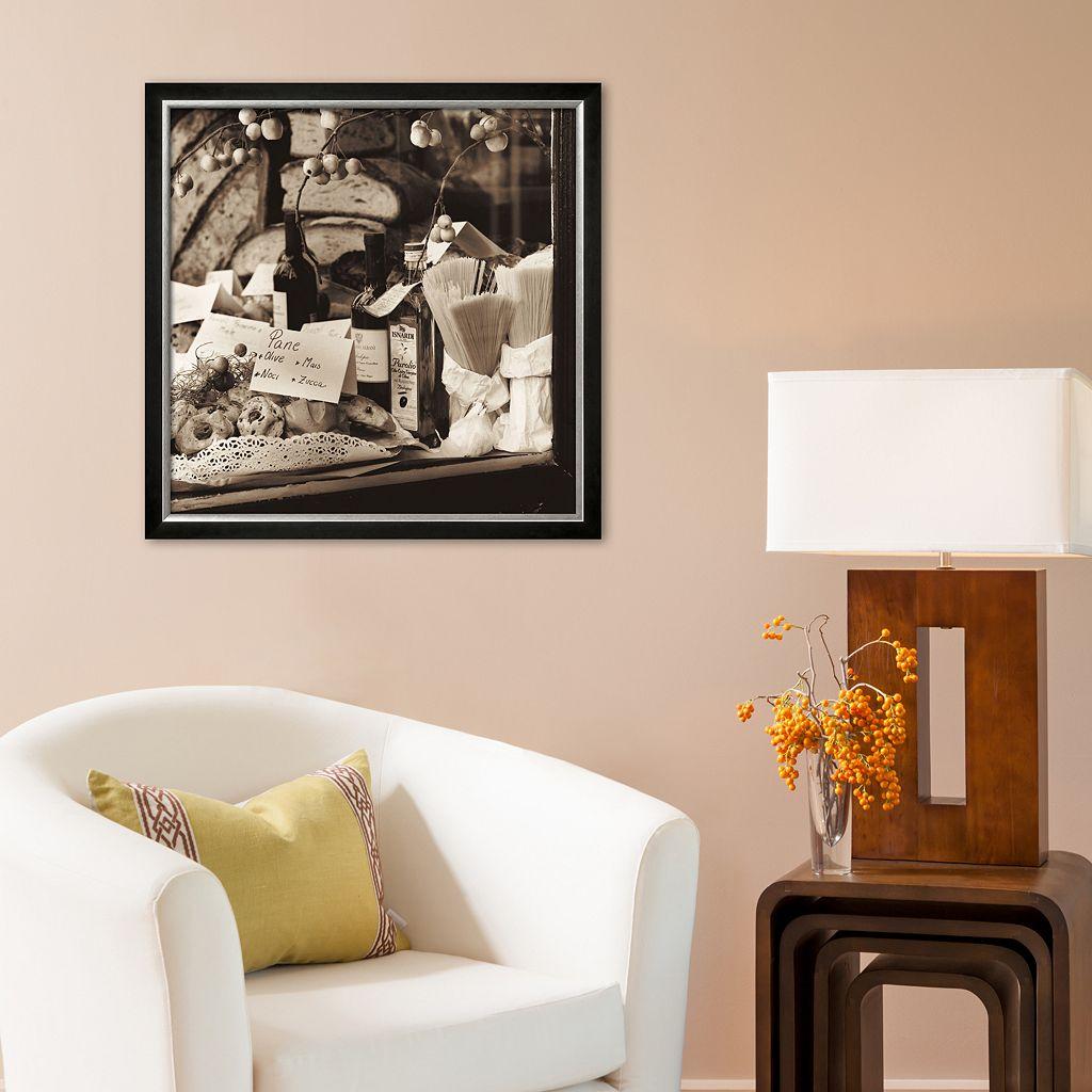 Art.com Pasta, Pane e Vino Framed Art Print by Alan Blaustein