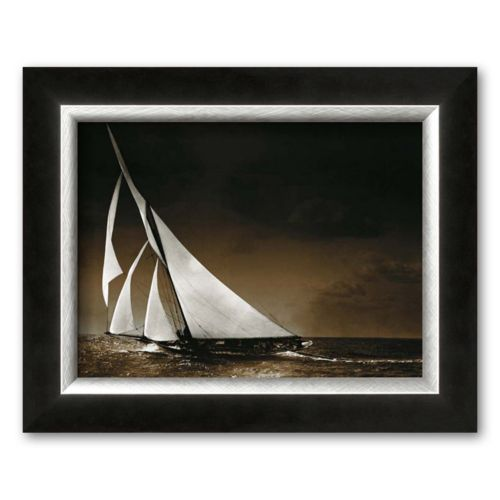 Art.com Sailing Yacht Mohawk at Sea, c.1895 Framed Art Print