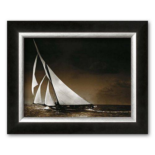 Art.com Sailing Yacht Mohawk at Sea, c.1895 Framed Art Print