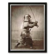 """Art.com """"Samurai Brandishing Sword"""" Framed Art Print"""