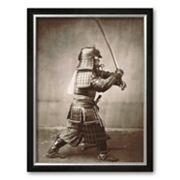 Art.com 'Samurai Brandishing Sword' Framed Art Print