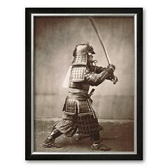 Art.com 'Samurai Brandishing Sword' Framed Art Print