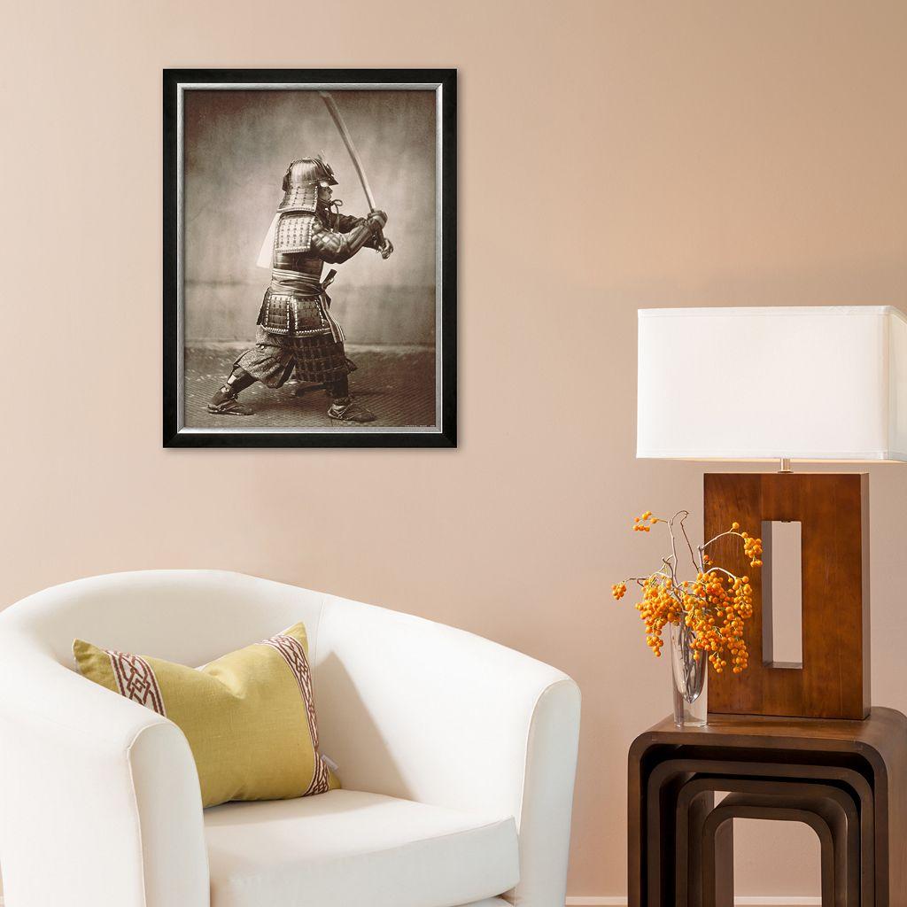 Art.com Samurai Brandishing Sword Framed Art Print
