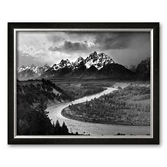Art.com 'Tetons and The Snake River, Grand Teton National Park, c.1942' Framed Art Print by Ansel Adams