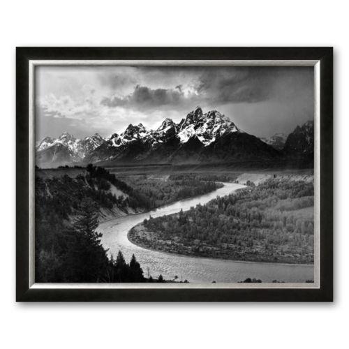Art.com Tetons and The Snake River, Grand Teton National Park, c.1942 Framed Art Print by Ansel Adams