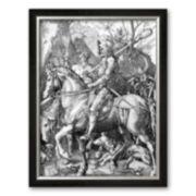 "Art.com ""The Knight, Death and The Devil , c.1514"" Framed Art Print by Albrecht Durer"