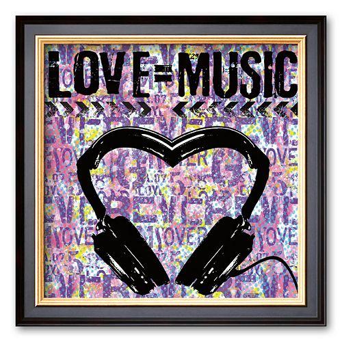 Art.com Love Music Framed Art Print by Louise Carey