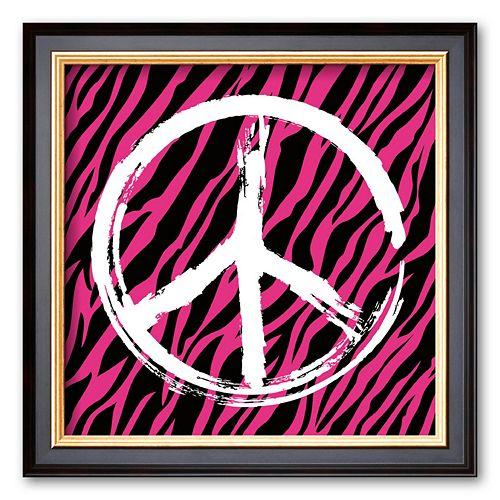 Art.com Zebra Peace Framed Art Print by Louise Carey