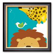 Art.com Safari Group: Leopard and Lion Framed Art Print by Yuko Lau