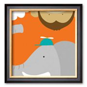 Art.com Safari Group: Monkey and Elephant Framed Art Print by Yuko Lau
