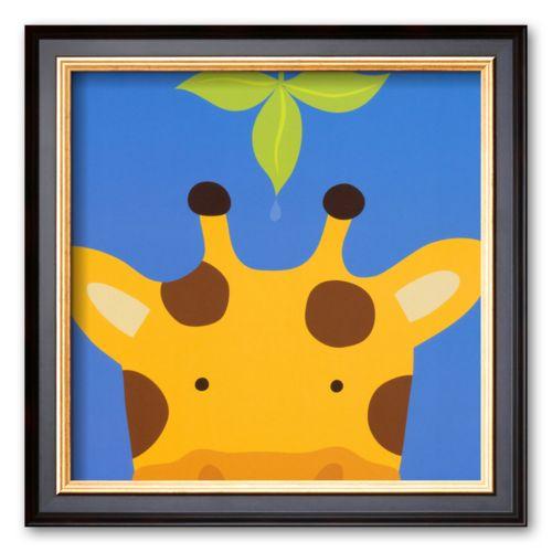 Art.com Peek-a-Boo VII, Giraffe Framed Art Print By Yuko Lau