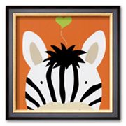 Art.com Peek-a-Boo XII, Zebra Framed Art Print By Yuko Lau