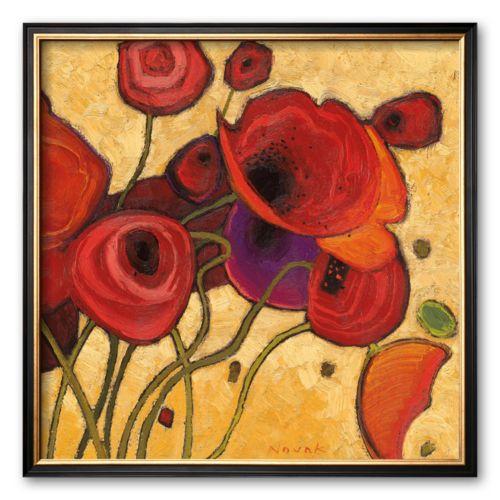 Art.com Poppies Wildly II Framed Art Print by Shirley Novak