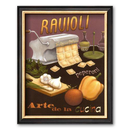 Art.com Ravioli Framed Art Print by Daphne Brissonnet
