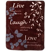 Live Laugh Love Hi Pile Super Plush Throw Blanket