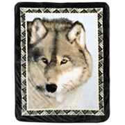 Wolf Prowl Hi Pile Super Plush Throw Blanket