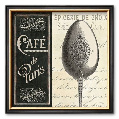 Art.com French Menu I Framed Art Print