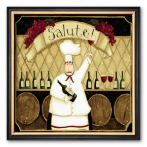 Art.com Kitchen Favorites: Salute Framed Art Print by Dan Dipaolo