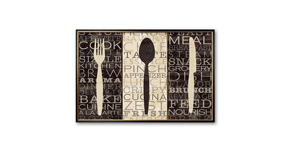 Art.com Kitchen Words Trio Framed Art Print