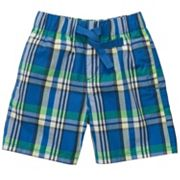 OshKosh B'gosh Blue Plaid Shorts- Toddler