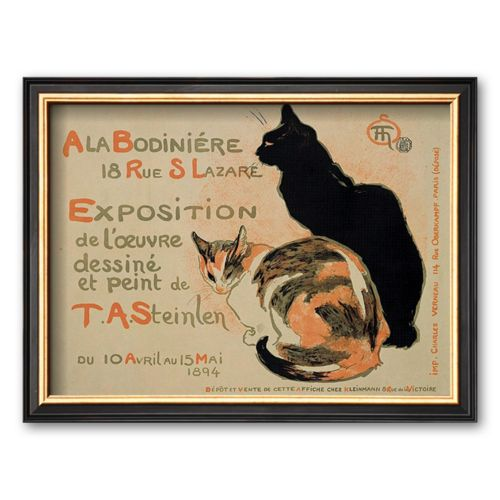 Art.com Exposition at Bodiniere Framed Art Print by Theophile Alexandre Steinlen
