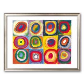 "Art.com ""Farbstudie Quadrate, c.1913"" Bright Framed Art Print by Wassily Kandinsky"