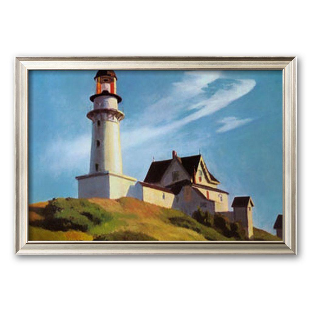 Art.com ''Lighthouse at Two Lights'' Framed Art Print by Edward Hopper
