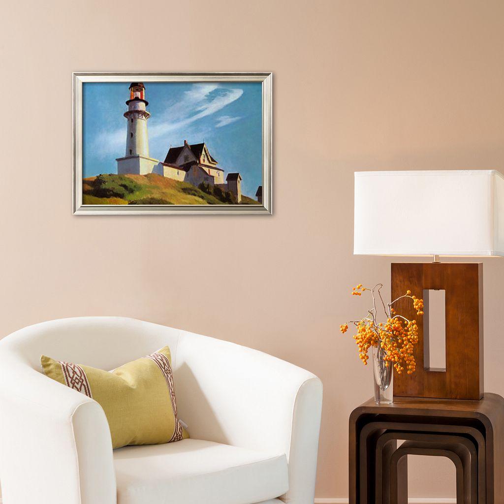 Art.com Lighthouse at Two Lights Framed Art Print by Edward Hopper