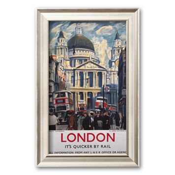Art.com ''London, It's Quicker by Rail'' Framed Art Print
