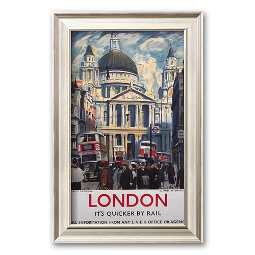 Art.com London, It's Quicker by Rail Framed Art Print