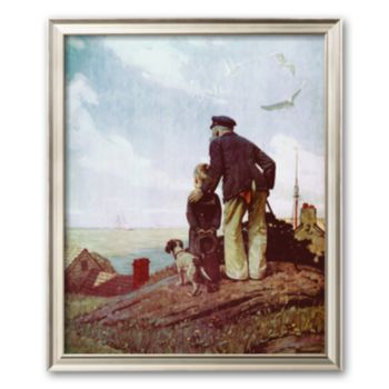 Art.com Outward Bound Framed Art Print by Norman Rockwell