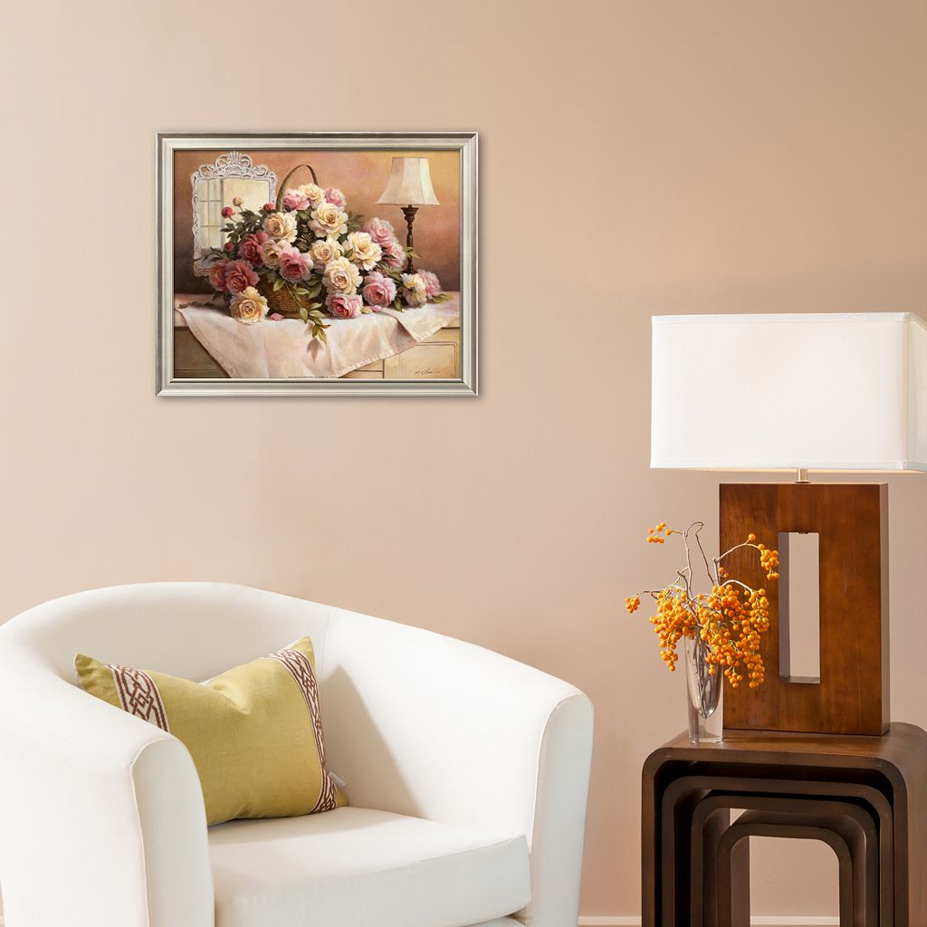Art.com ''Peonies'' Framed Art Print by T.C. Chiu
