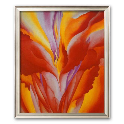 Art.com Red Canna Framed Art Print by Georgia O