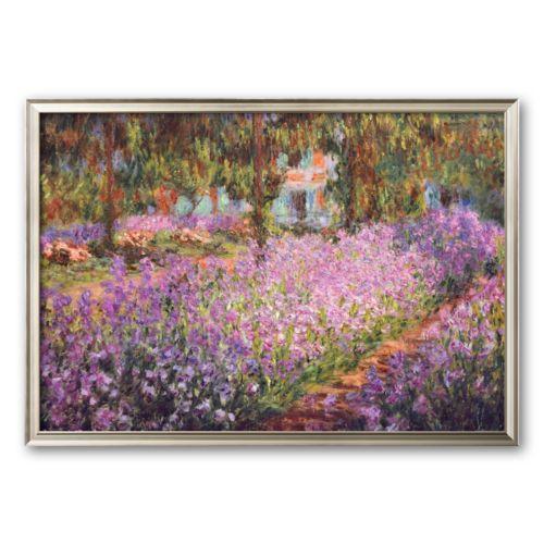 Art.com The Artist's Garden at Giverny, c. 1900 Framed Art Print by Claude Monet