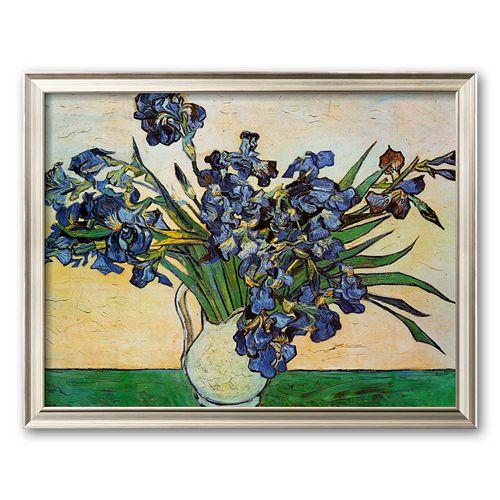 Art.com ''Vase of Irises, c. 1890'' Framed Art Print by Vincent van Gogh