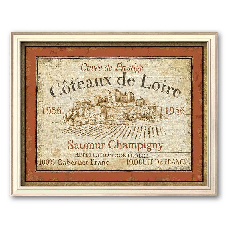 "Art.com ""French Wine Labels Ii"" Champagne Framed Art Print by Daphne Brissonnet, Multicolor"