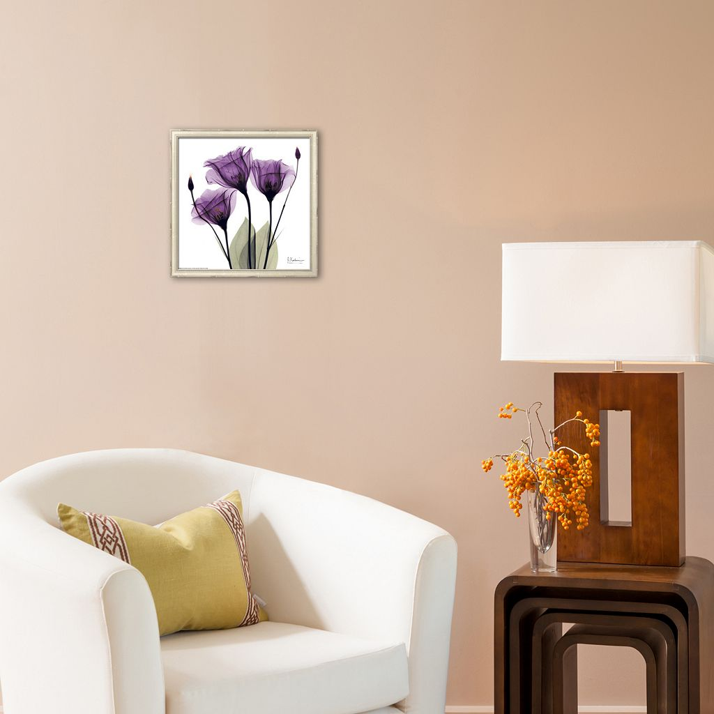 Art.com Royal Purple Gentian Trio Framed Art Print by Albert Koetsier