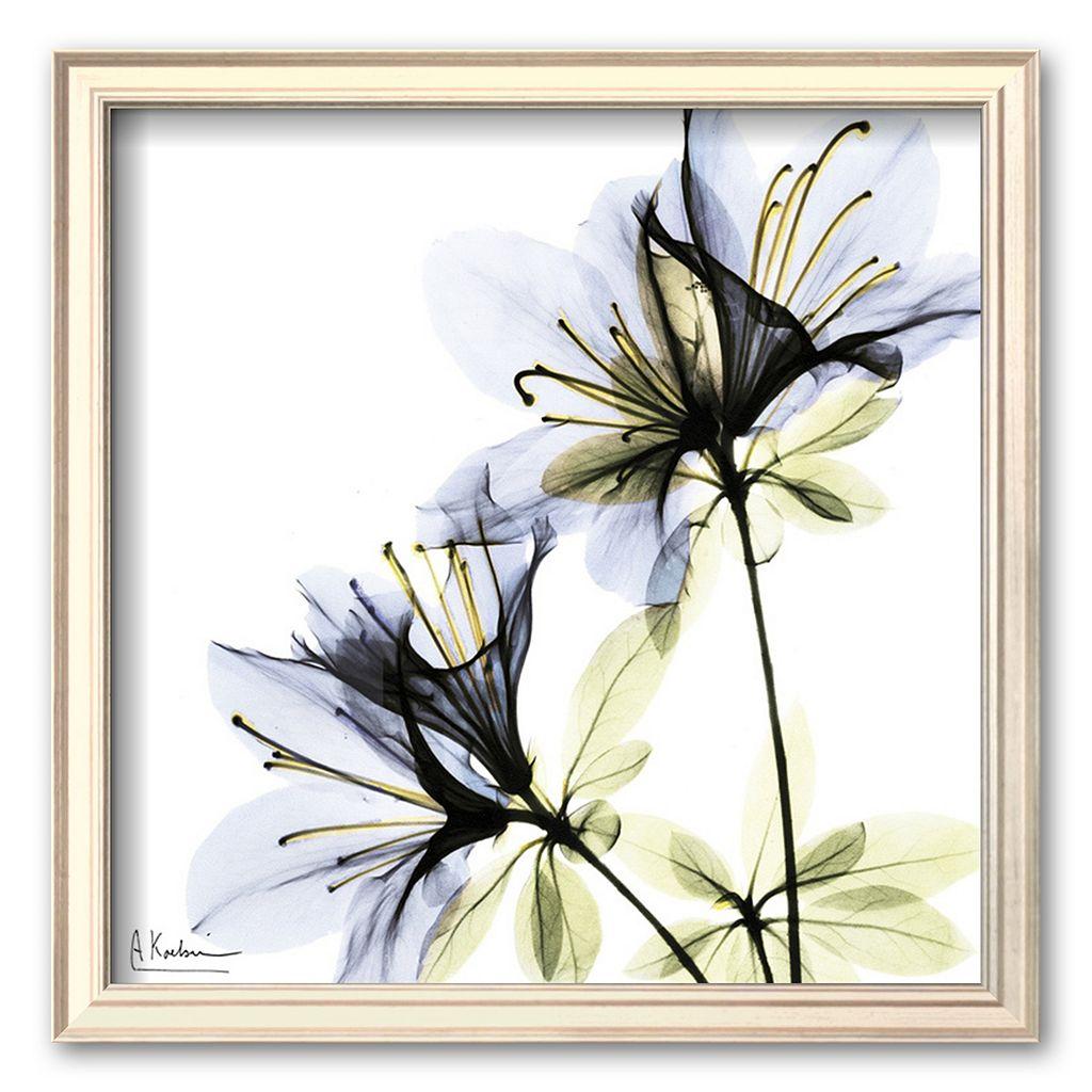 Art.com ''Blue Twin Azalea in Bloom'' Framed Art Print by Albert Koetsier