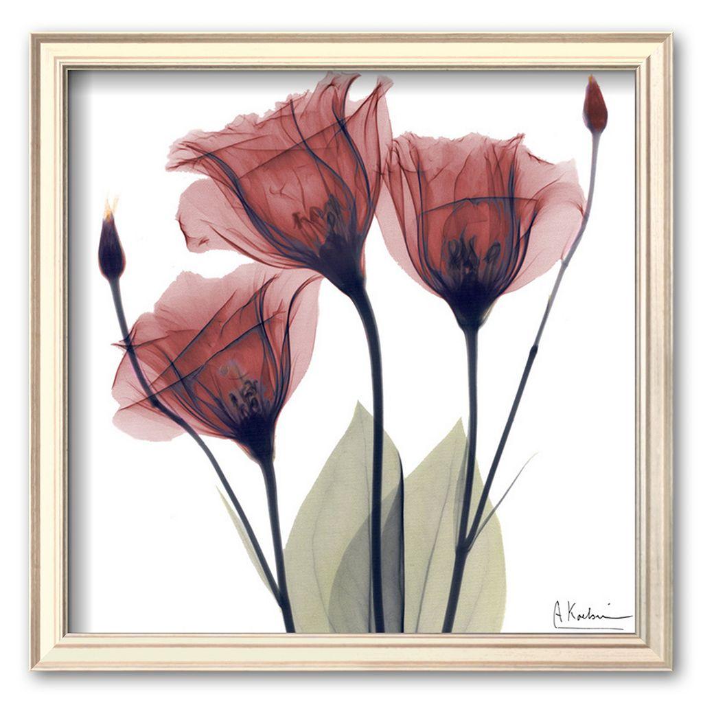 Art.com ''Gentian Trio in Red'' Framed Art Print by Albert Koetsier