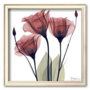 Art.com ''Gentian Trio in Red'' Framed Art Print by Albert Koetsier
