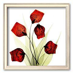 Art.com 'Sandersonia Bunch in Red' Framed Art Print by Albert Koetsier