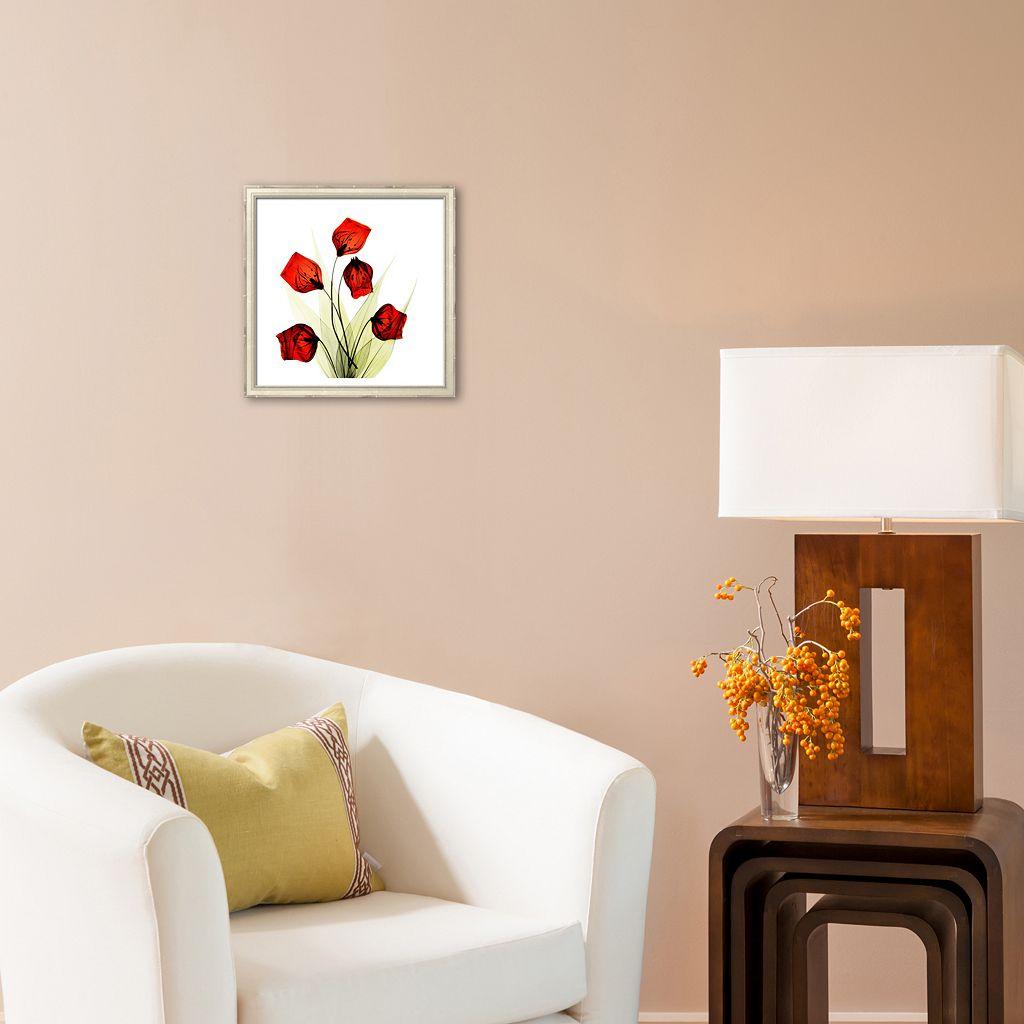 Art.com Sandersonia Bunch in Red Framed Art Print by Albert Koetsier